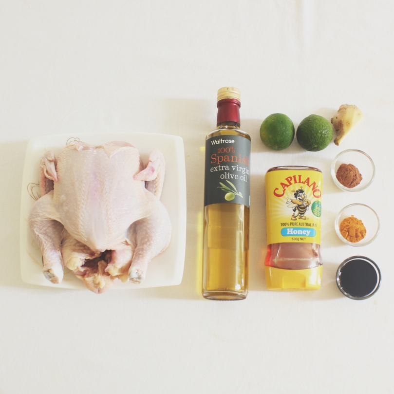 Honey-Roasted Chicken Ingredients
