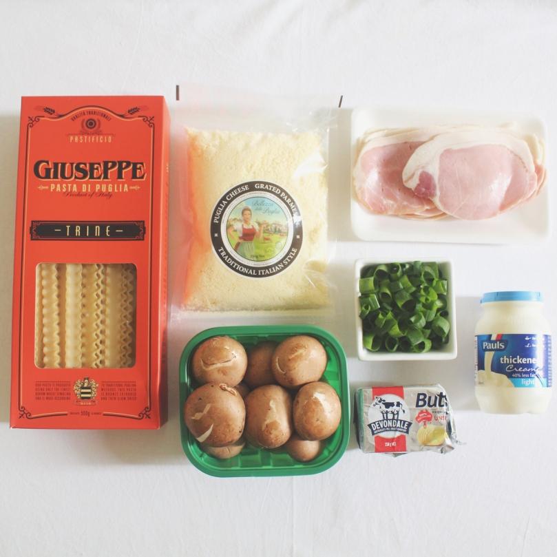 Trine Boscaiola Ingredients