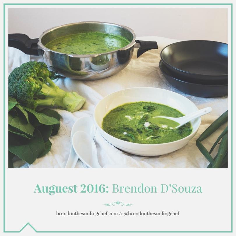 Auguest 2016: Brendon D'Souza