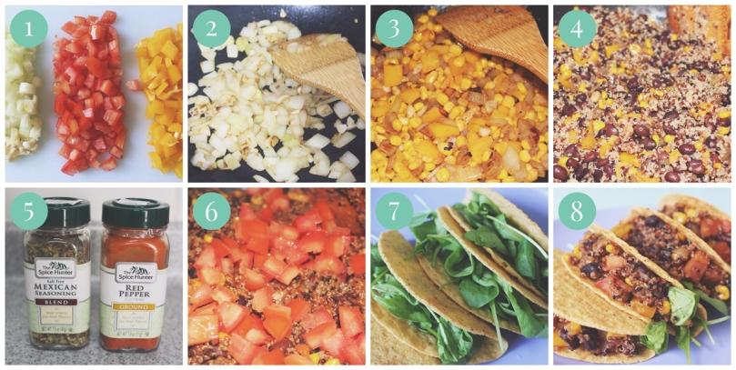 Quinoa Black Bean Tacos Method