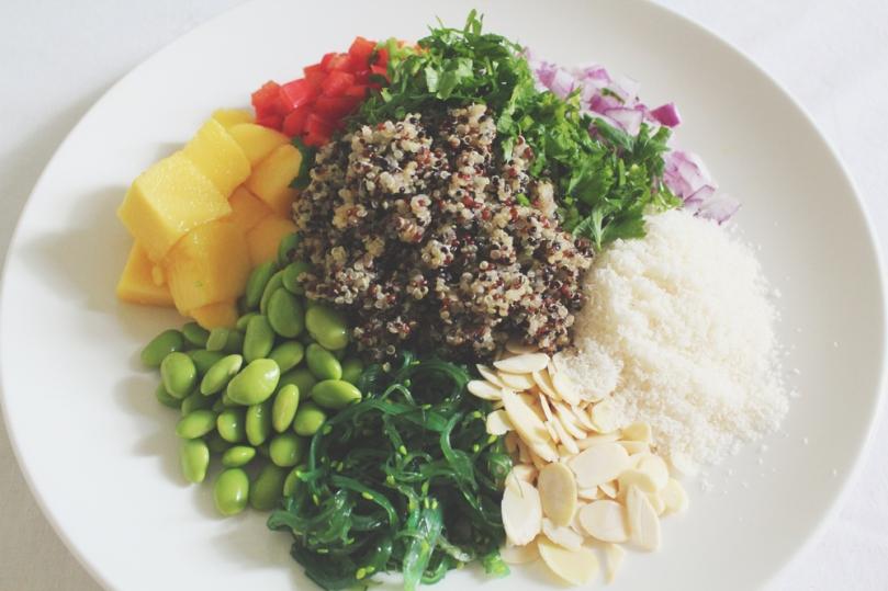 California-inspired Quinoa Salad Ingredients