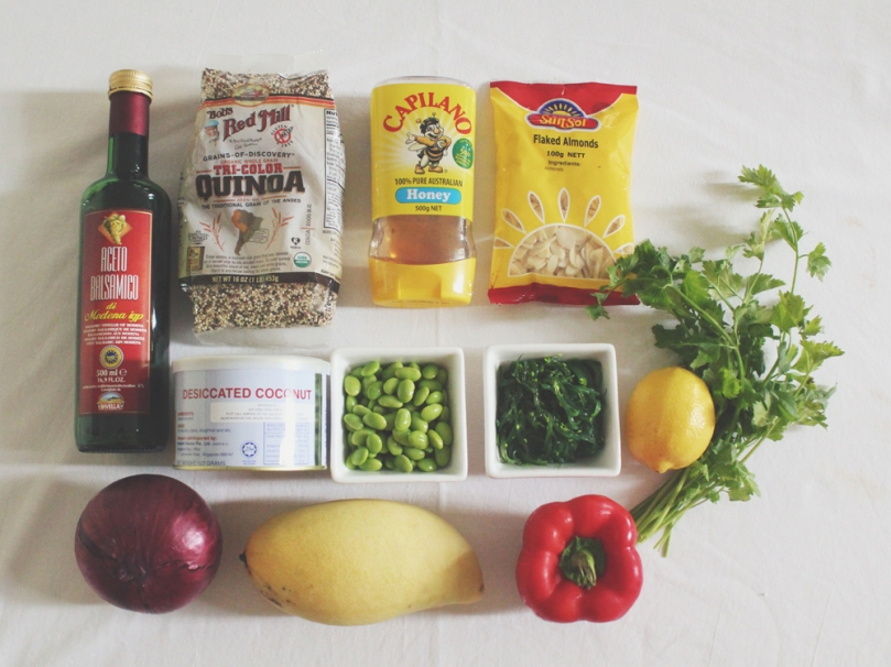 California-inspired Quinoa Salad Ingredients