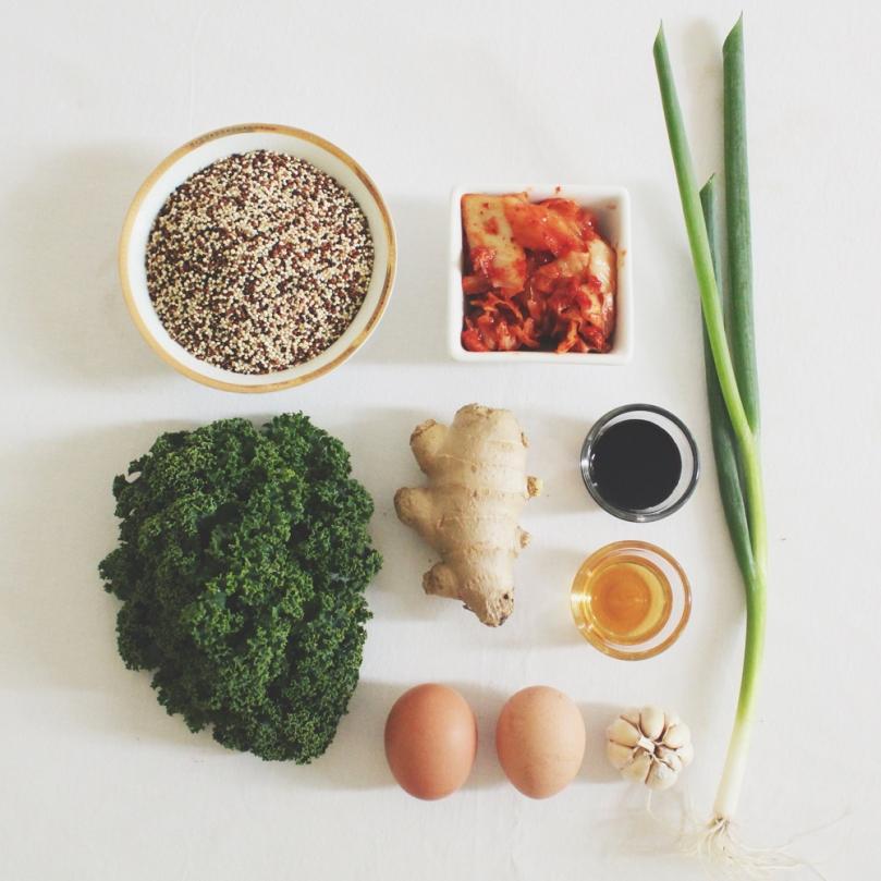 Spicy Kimchi Quinoa Bowls Ingredients