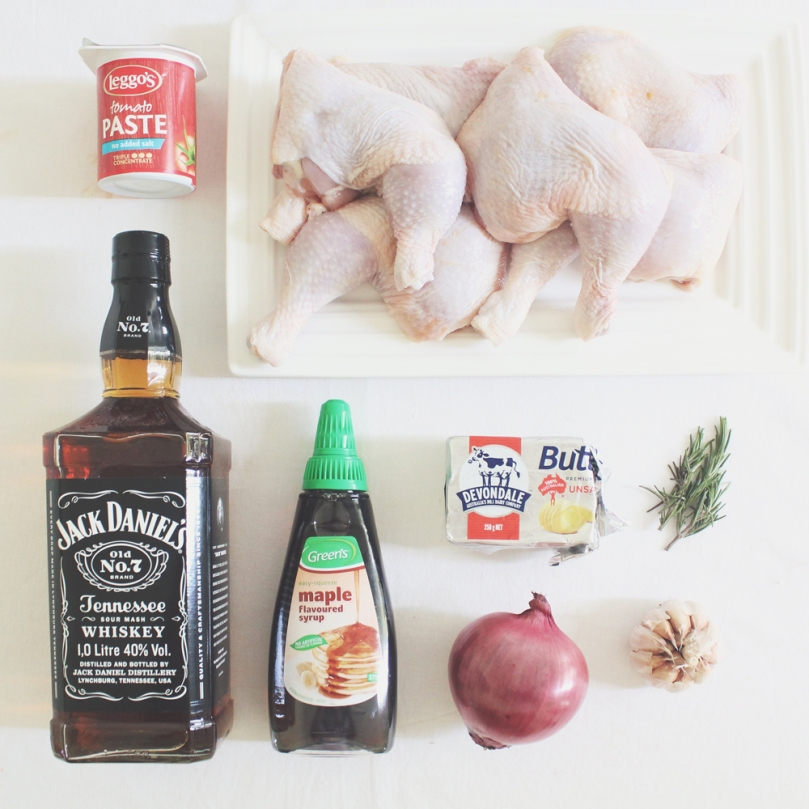 Bourbon & Maple Glazed Chicken Ingredients