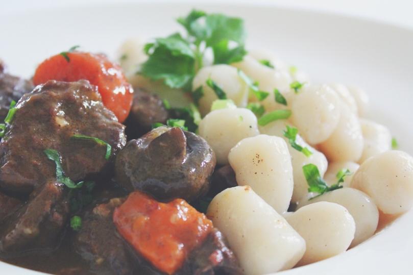 Bœuf Bourguignon with Potato Gnocchi