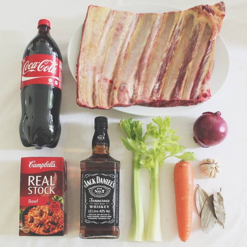 Bourbon & Coke Beef Short Ribs Ingredients