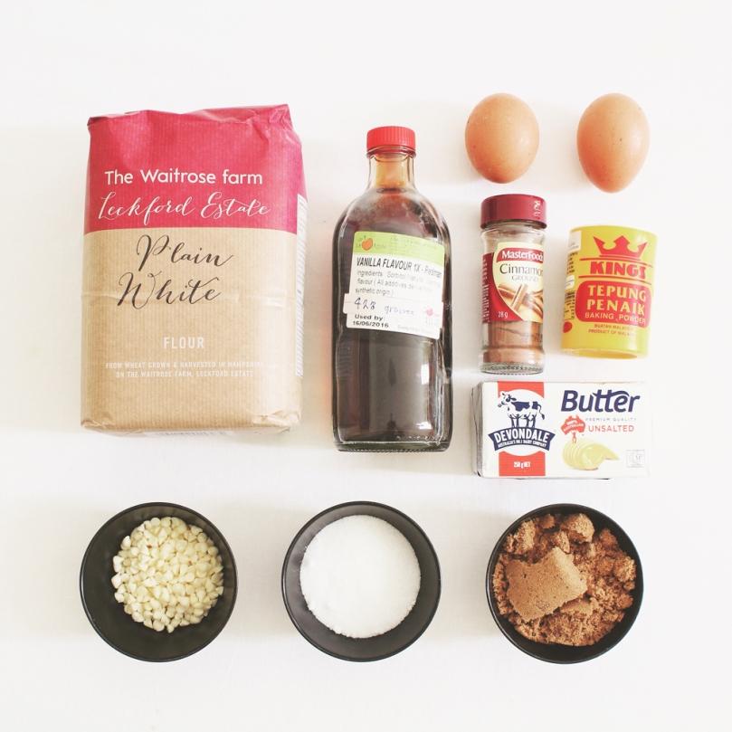 White Chocolate Snickerdoodle Blondies Ingredients