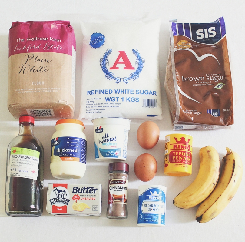 Upside-down Banana Cake Ingredients