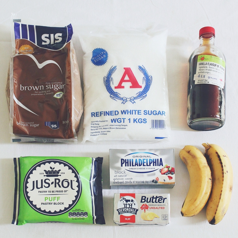 Banana Cheesecake Rollups Ingredients