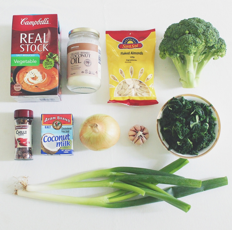 Vegan Broccoli & Kale Soup Ingredients