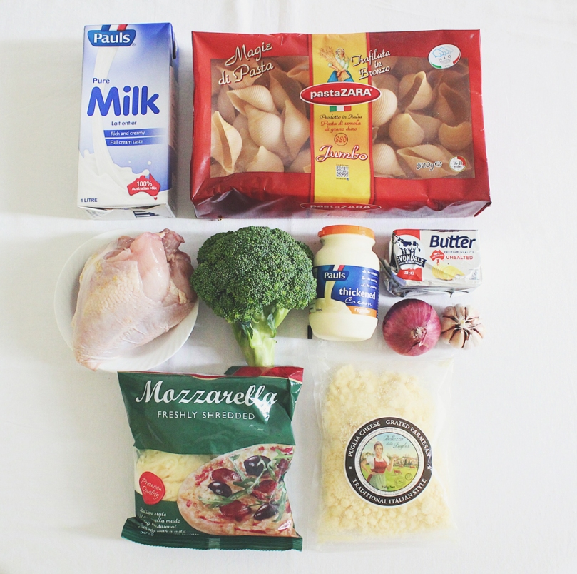 Chicken & Broccoli Alfredo Stuffed Conchiglie Ingredients