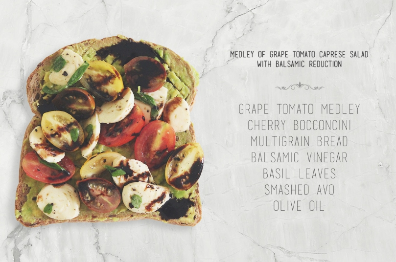 Medley of Grape Tomato Caprese Salad with Balsamic Reduction
