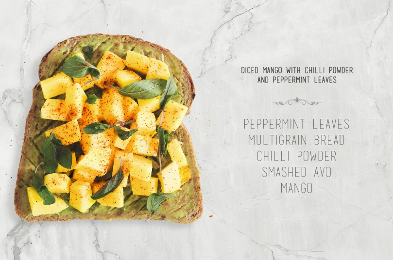 Diced Mango with Chilli Powder & Peppermint