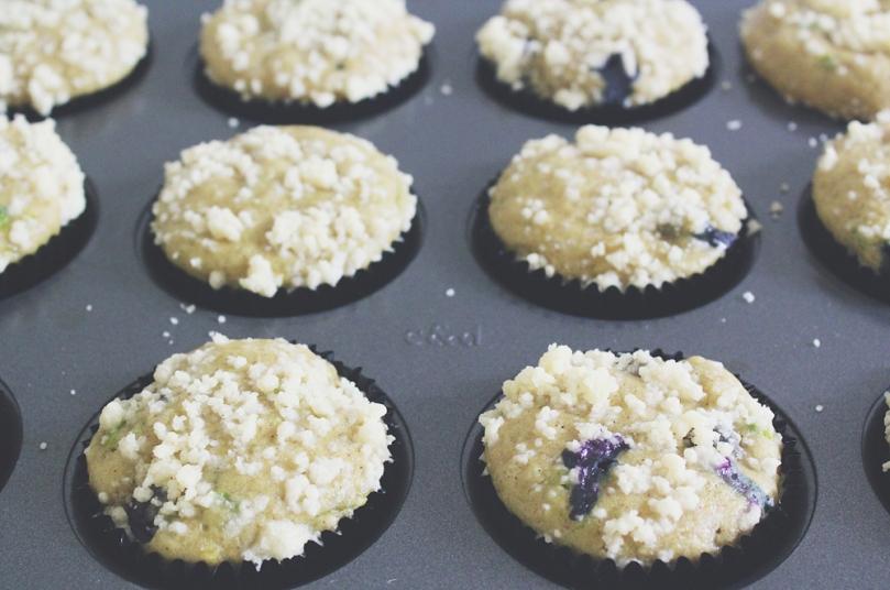 Breakfast Muffins: Avocado & Blueberry