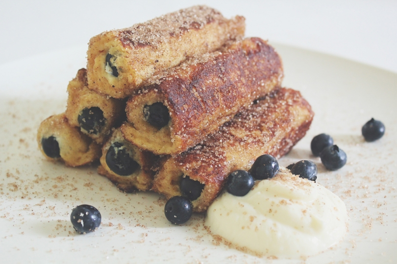 Blueberry & Ricotta French Toast Roll Ups