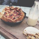 DESSERTS: BAKED APPLE PIE (for 2 people)