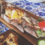 TURKISH SUCUK AND CHEESE PIDE