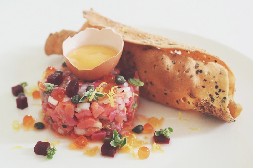 Beetroot & White Wine-cured Ocean Trout Tartare