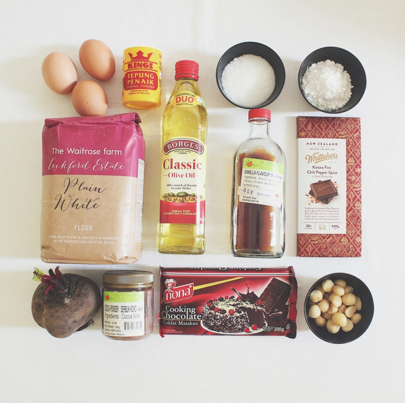 Beetroot Brownies Ingredients