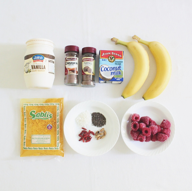 Golden Turmeric Chai Smoothie Bowl Ingredients