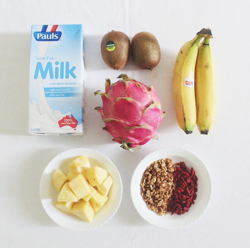 Pitaya Smoothie Bowl Ingredients