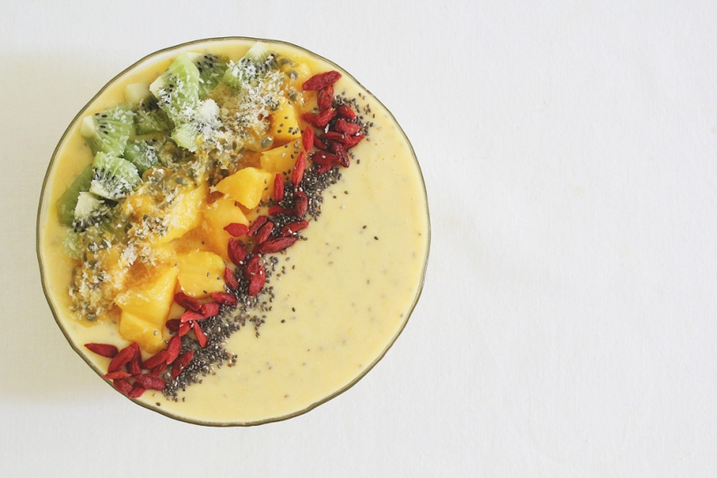 Tropical Mango & Pineapple Smoothie Bowl