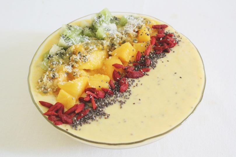 Tropical Mango & Pineapple Smoothie Bowl