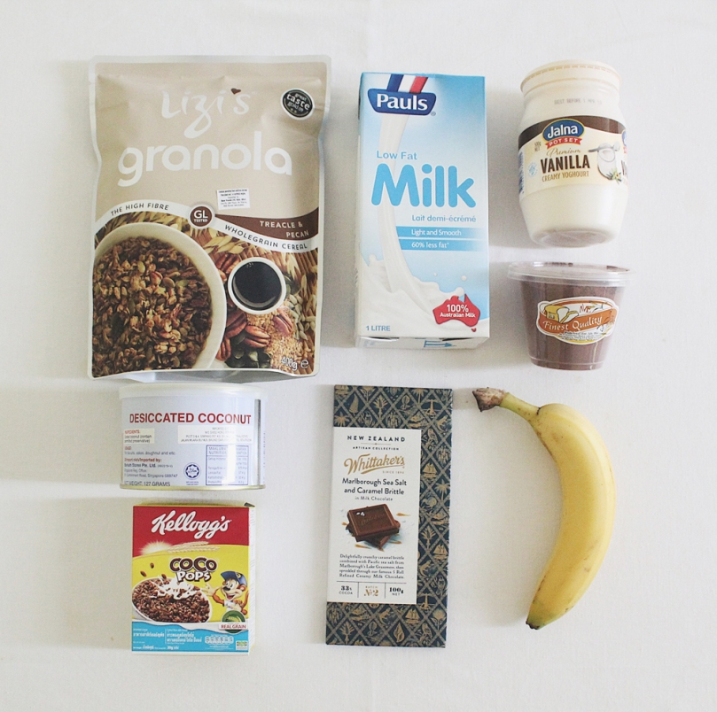 Dark Chocolate, PB & Banana Smoothie Bowl Ingredients