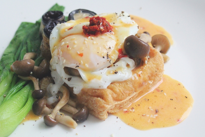 Asian-inspired Vegetarian Eggs Benedict