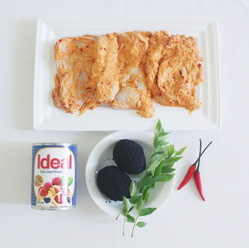 Fried Chicken with Salted Egg Sauce 'Eggs Benedict' Ingredients
