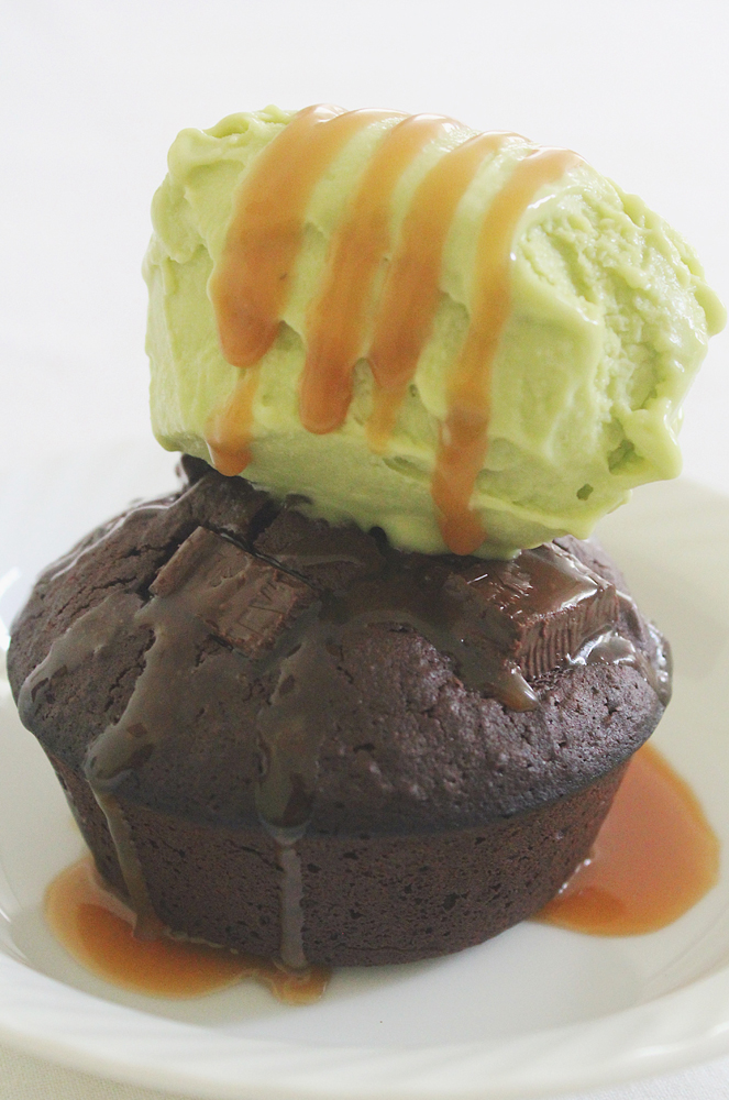 Breakfast Muffins: Brownie, Salted Caramel & Avocado Gelato