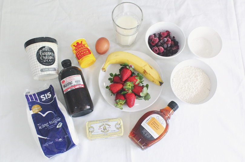Mini Mixed Berry Pancakes Ingredients