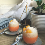 Mango Pudding with Coconut Sago