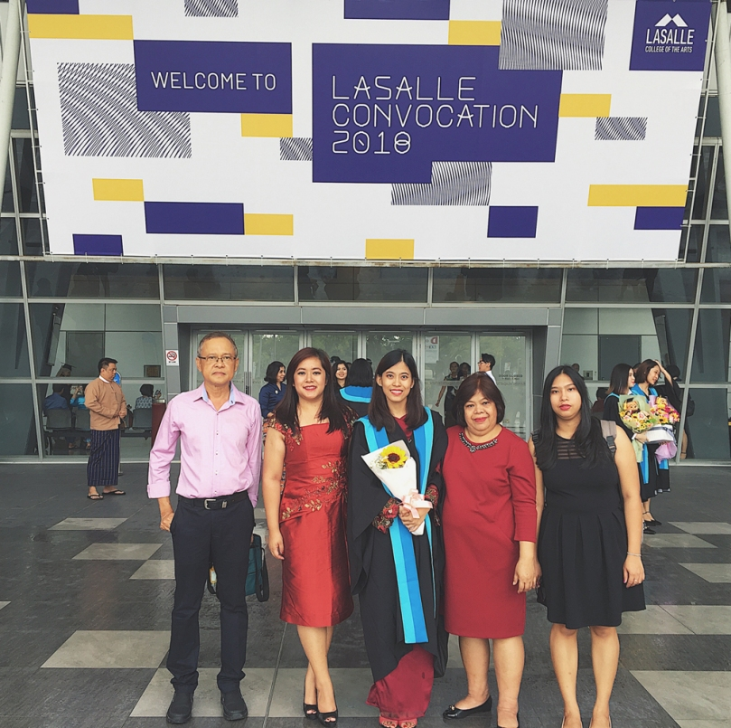 Alyssa's Graduation Ceremony – Diploma in Contemporary Music from LASALLE College of the Arts, Singapore