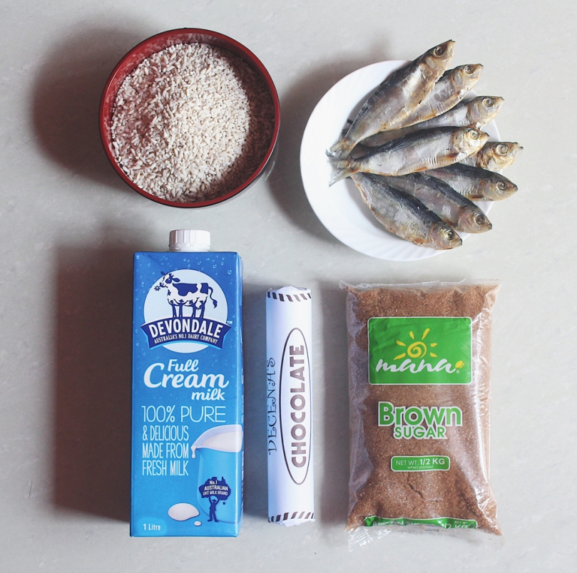 Classic Champorado (Chocolate Rice Porridge) Ingredients