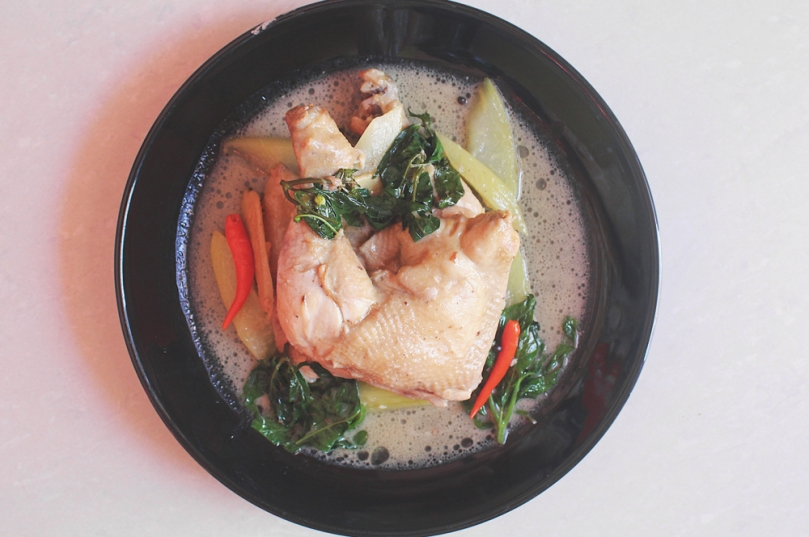 Ginataang Manok (Chicken Stewed in Coconut Milk)
