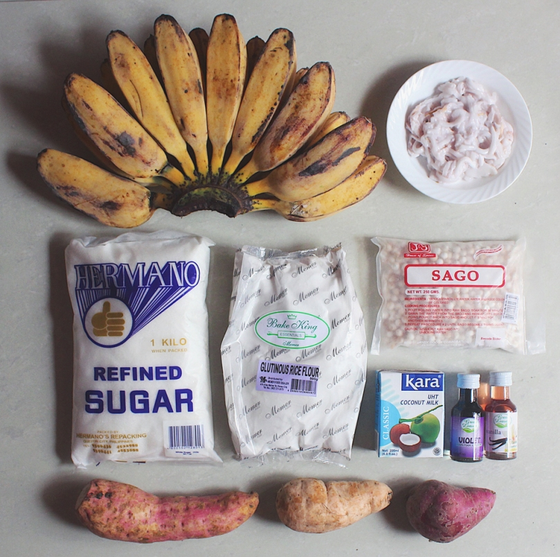 Ginataang Halo-Halo (Binignit) Ingredients
