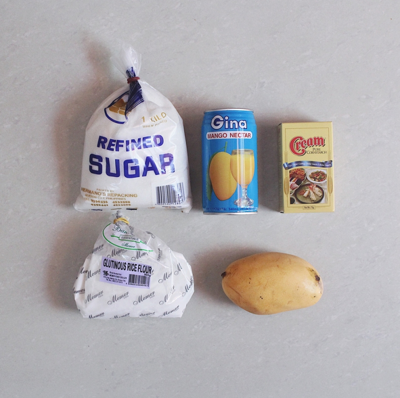 Mango Mochi (マンゴー餅) Ingredients