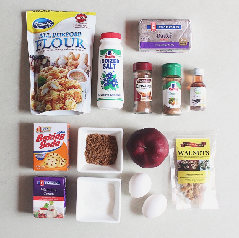 Chunky Apple Cake Ingredients