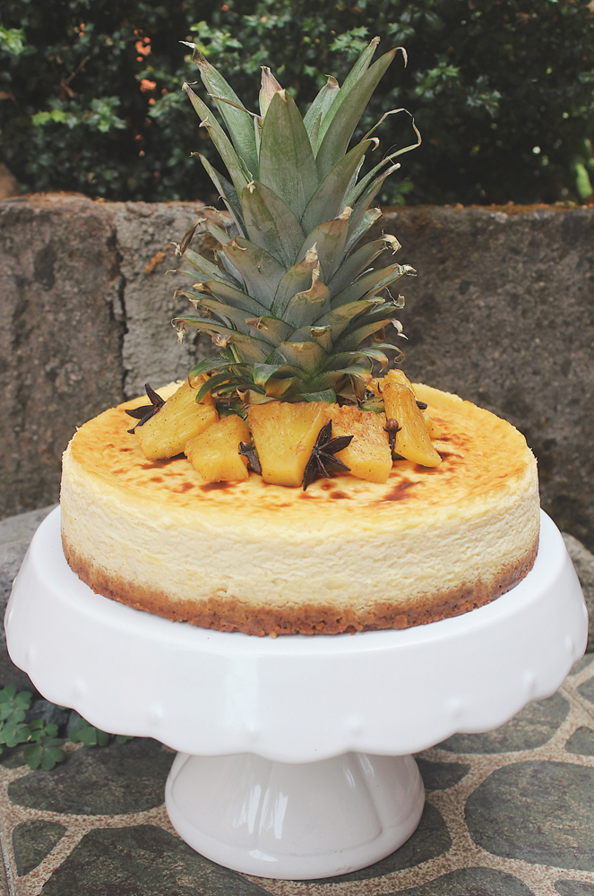 Spice-roasted Pineapple Cheesecake
