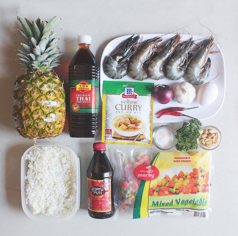 Thai-style Pineapple Fried Rice Ingredients