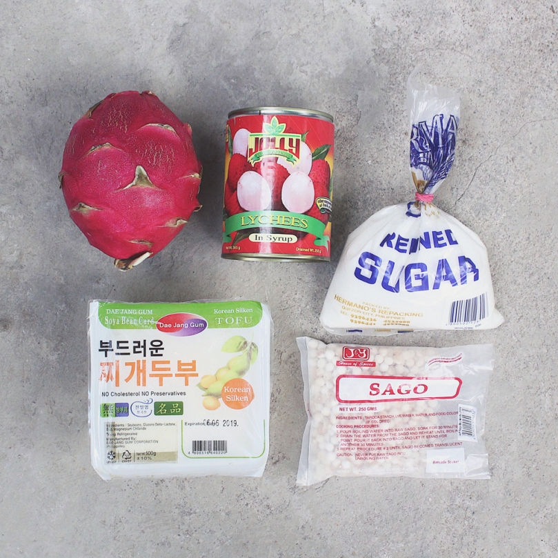 Dragon Fruit & Lychee Taho Ingredients