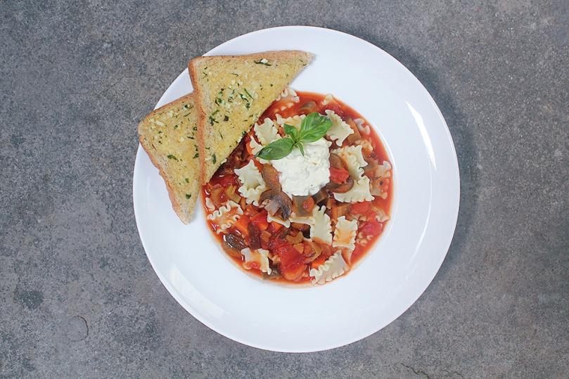 Spicy Chipotle Vegetarian Mafalde Soup