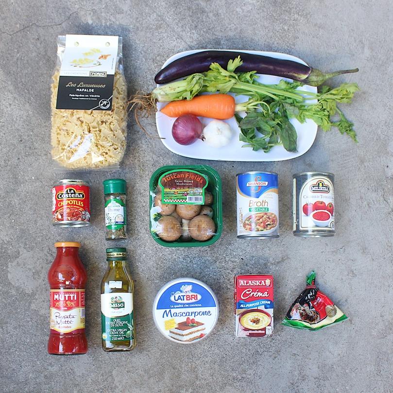 Spicy Chipotle Vegetarian Mafalde Soup Ingredients