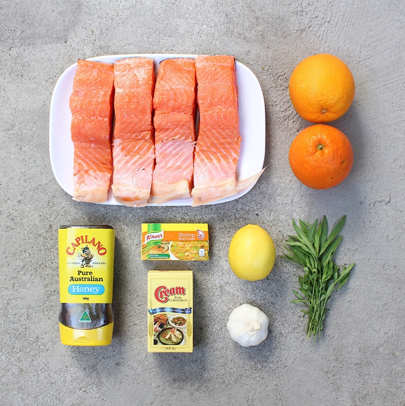 Orange-glazed Salmon with Tarragon Ingredients