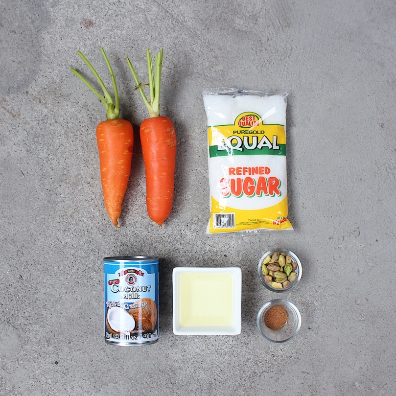Vegan Gajar Ka Halwa (Indian Carrot Pudding) Ingredients