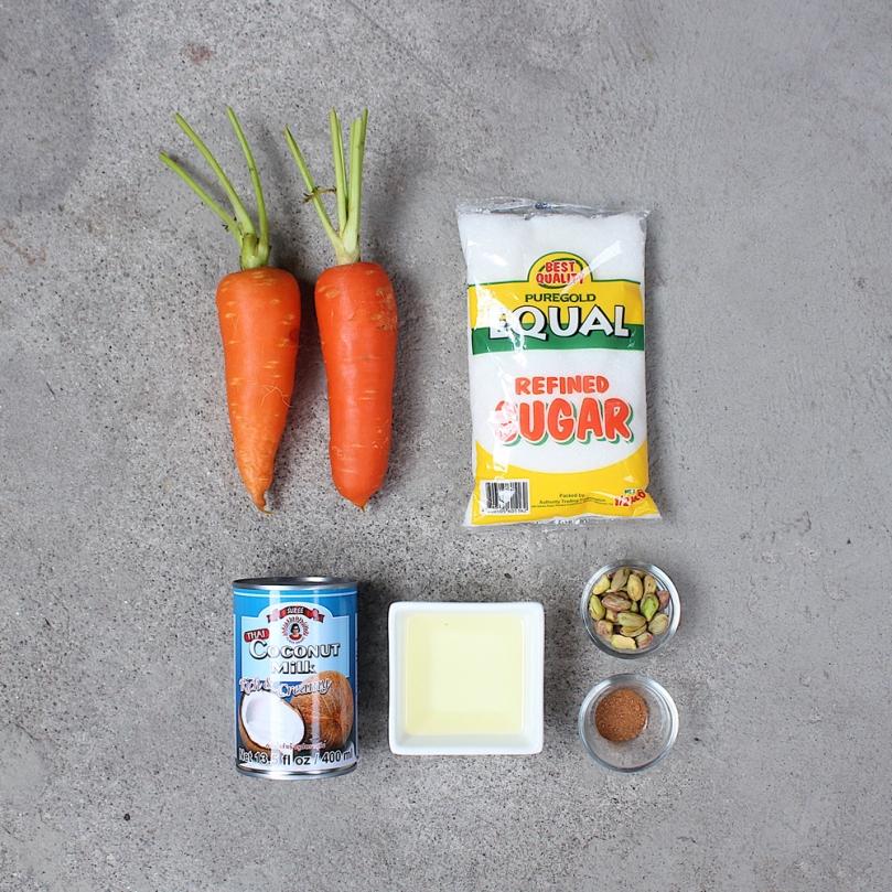 Vegan Gajar Ka Halwa (Indian Carrot Pudding) Ingredients