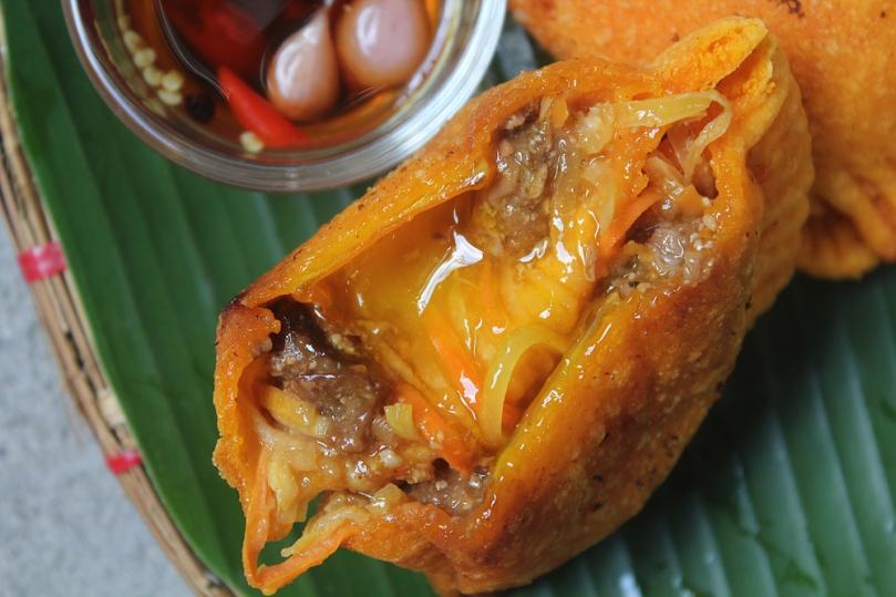 Vegetarian Ilocos-style Empanada