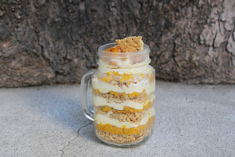 Deconstructed Pumpkin Pie in a Jar