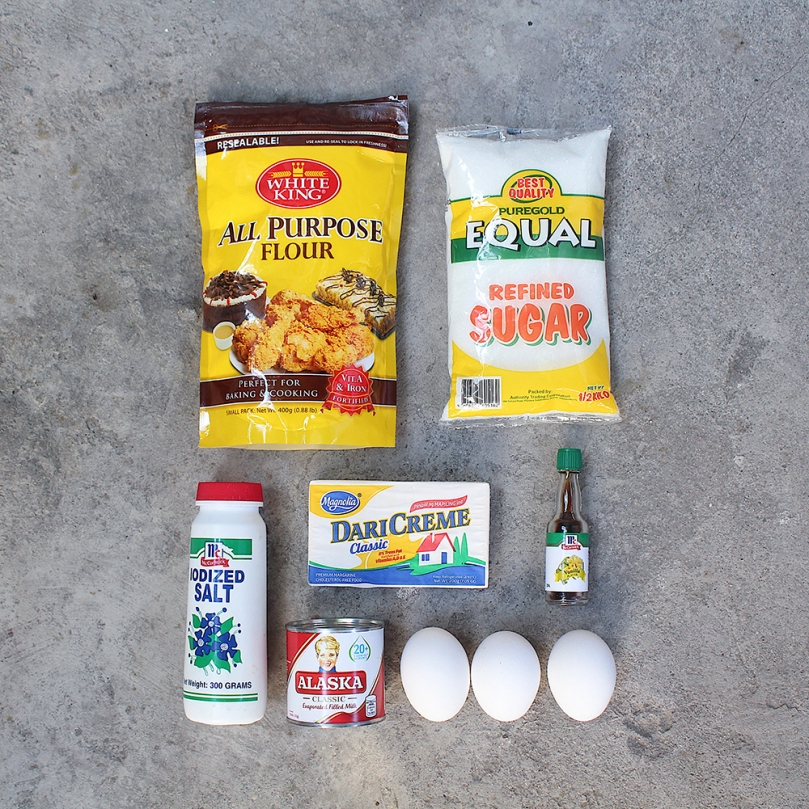 Hong Kong Style Egg Tarts Ingredients